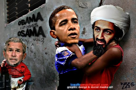 Obama captures and kills Osama bin laden